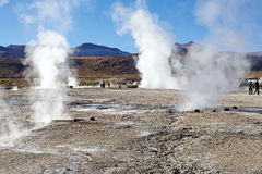 Geysers d'EL Tatio, Chili Images stock