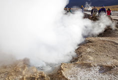 Geysers d'EL Tatio, Chili Photo stock