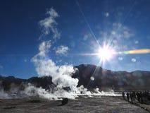 Geysers Del Tatio, Atacama-Wüste, Chile lizenzfreie stockbilder