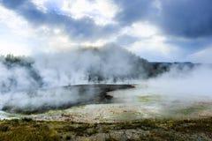 Geysers do parque nacional de Yellowstone Imagem de Stock