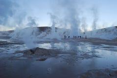 geysers EL tatio Στοκ Φωτογραφία