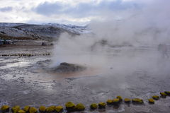 Geysers el Tatio at the Atacama desert, Chile Royalty Free Stock Photography