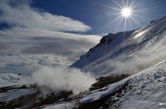 Geysers en Islande Images libres de droits