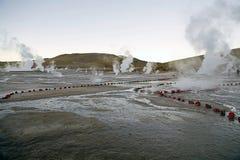 Geysers för El Tatio, Chile Fotografering för Bildbyråer