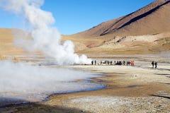 Geysers för El Tatio, Chile Royaltyfria Foton