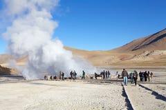 Geysers för El Tatio, Chile Arkivbild