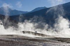 Geysers för El Tatio - den Atacama öknen - Chile Arkivbilder
