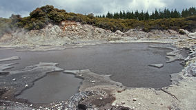 Geysers and hot springs are located in many places royalty free stock images