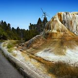 Yellowstone National Park, Wyoming, United States. Geysers and hot springs in Yellowstone National Park, Wyoming. United States royalty free stock image