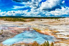 Geysers at Norris Basin stock image