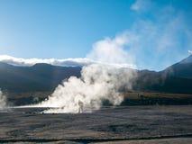Geysers på El Tatio, Atacama Fotografering för Bildbyråer