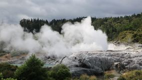 Geysers and rock stock video