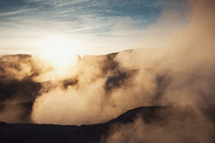 Geysers Sol de Manana on Altiplano, Bolivia Stock Photo