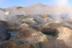 Geysers Sol de Manana, Bolivia. Thermal activities at 4900 meters. Royalty Free Stock Photo