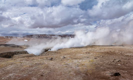 Geysers Sol de Manana in Eduardo Avaroa National Reserve of Andean Fauna - Potosi Department, Bolivia Royalty Free Stock Images