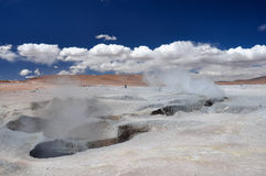 Geysers Sol Manana, Sur Lipez, South Bolivia Royalty Free Stock Photography