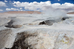 Geysers Sol Manana, Sur Lipez, South Bolivia Royalty Free Stock Images