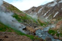 Geysers, volcano Royalty Free Stock Photography