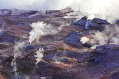 Geysers and volcano activity Royalty Free Stock Image