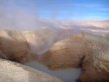 Geyseyr sol de manana at bolivian altiplano Stock Images