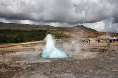 geysir冰岛 库存图片