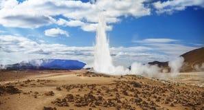 Geysir,冰岛自然,风景 免版税库存照片