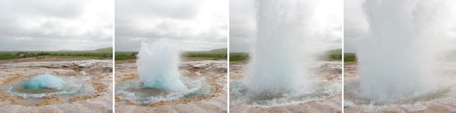 geysir извержения Стоковые Изображения