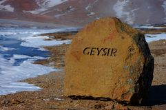 Geysir Stock Photo