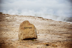 Geysir Στοκ εικόνα με δικαίωμα ελεύθερης χρήσης