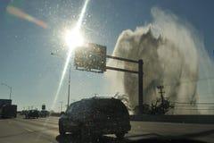 Geysir auf I95 Norden von Philadelphia, PA, USA Lizenzfreie Stockbilder
