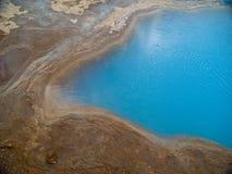 Geysir bleu en gros plan Islande images stock