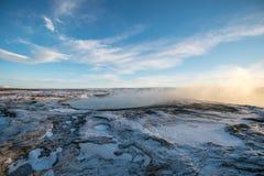 Geysir em Islândia | Círculo dourado Fotografia de Stock Royalty Free