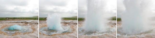 Geysir eruption Stock Images
