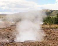 Geysir Geothermal Field Stock Photo