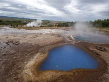 Geysir geothermisch gebied, zuidwestenijsland Stock Foto