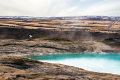 Geysir geyser in Iceland with steamy water Stock Photography