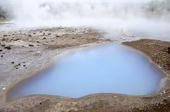 Geysir-Gouden Cirkel IJsland-Haukadalur-Blesi Stock Foto's