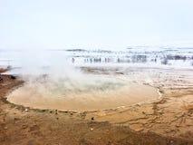 geysir iceland royaltyfri bild