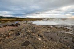 Geysir islandês geotérmica Fotos de Stock Royalty Free