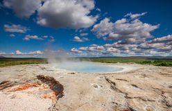 Geysir, Island stockfotos