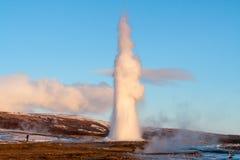 Geysir Islanda immagini stock libere da diritti