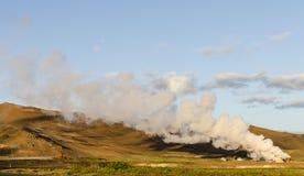 Geysir islandese di estate Immagine Stock