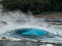 Geysir. Just before explosion (Iceland Stock Images
