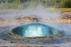 Geysir op IJsland Stock Afbeelding