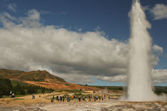 Geysir 9 of 9. Geysir, sometimes known as The Great Geysir, is a geyser in southwestern Iceland. It was the first geyser described in a printed source and the Royalty Free Stock Photography