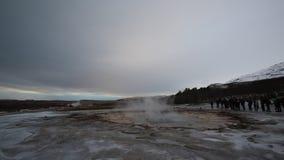Geysir Strokkur eruption stock video footage