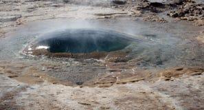 Geysir Strokkur IJsland royalty-vrije stock fotografie