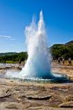 Geysir Strokkur Island Stockfoto