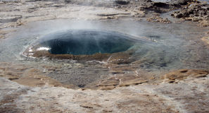 Geysir Strokkur Island Lizenzfreie Stockfotografie