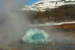 Geysir sur l'Islande Image libre de droits